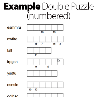 FREE Double Puzzle Maker: Make your own double puzzle now!