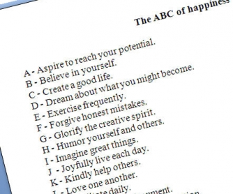 The ABC of Happiness