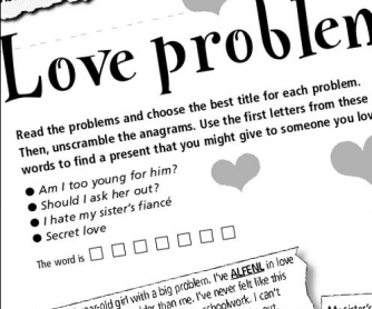 Love Problems: Intermediate Worksheet
