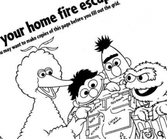 Fire Safety With Sesame Street: Color and Learn