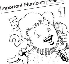 Important Numbers: Numbers at Home Worksheet