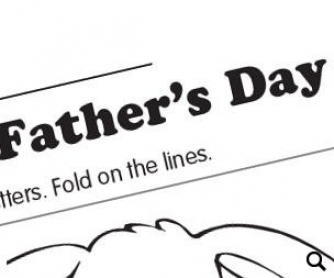 Father's Day Worksheet + Coloring Page