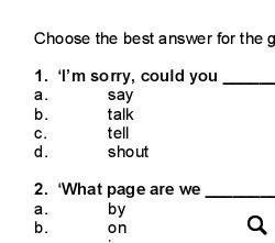 How We Say Things In The Classroom: Classroom Quiz