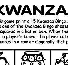 Kwanzaa Bingo and Coloring Pages
