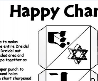 Happy Chanukah: Dreidel Cube Game