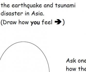 Natural Disasters Worksheet: Feelings About Disasters