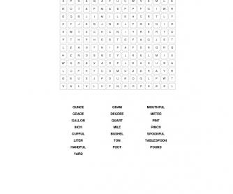 Units Of Measurement Vocabulary Worksheet