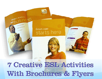 What You Can Do With Brochures And Flyers 7 Creative ESL