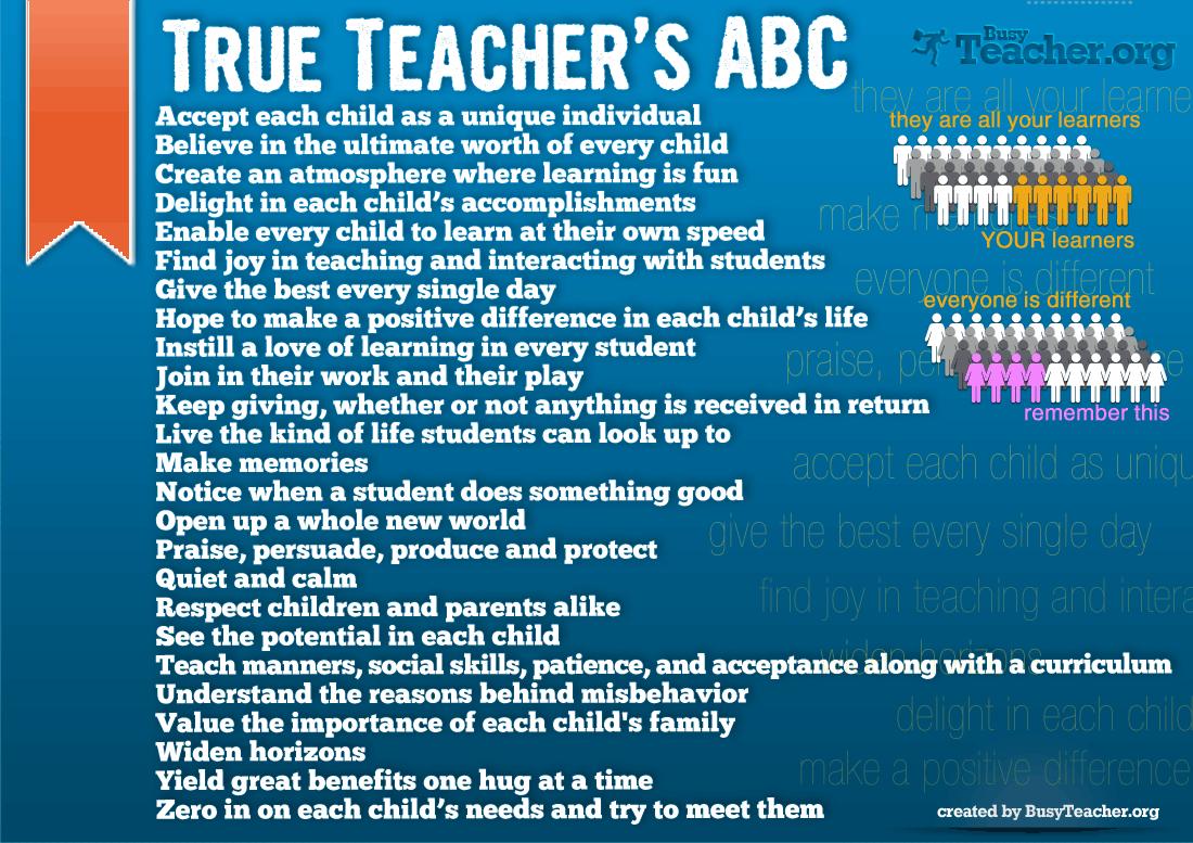 True Teacher S Abc Poster