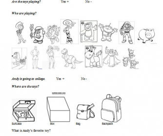 Movie Worksheet: Toy Story 3 Lesson 1