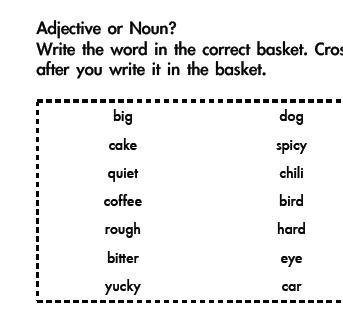 Noun and Adjective Assessment