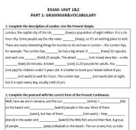 Sample High School Grammar Exam