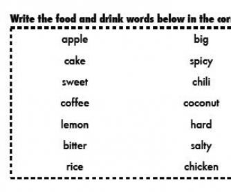 Adjective or Noun Food Baskets