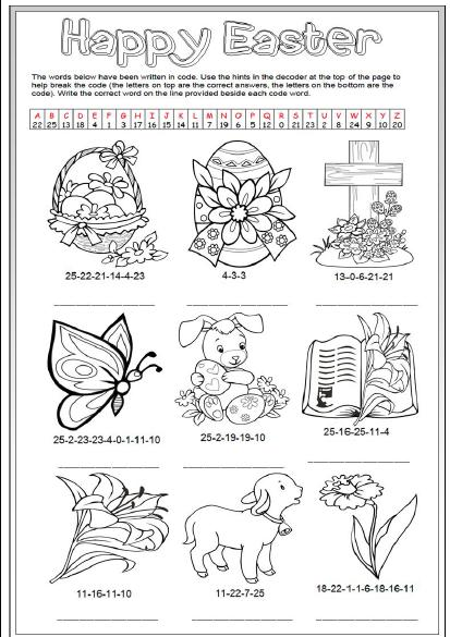 Easter Decoding Activity