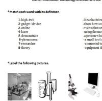 Science And Technology Worksheet