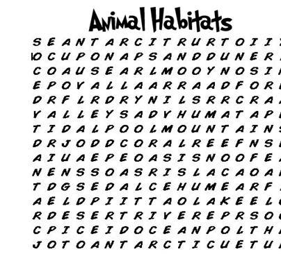Image Result For Animals Habitat