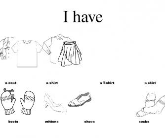 Clothes Worksheet (I Have)