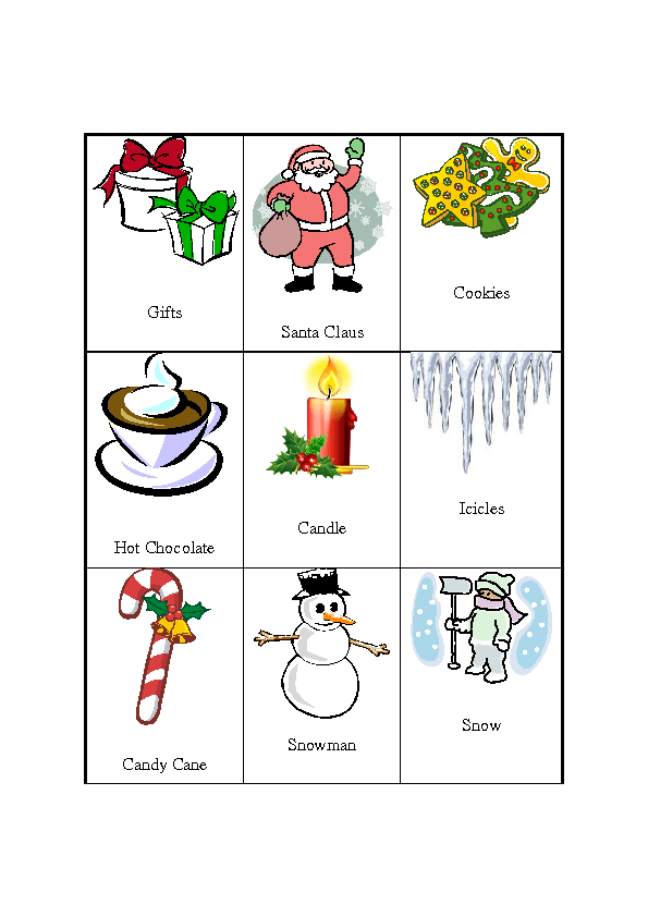 Funny Holiday Pictionary Words