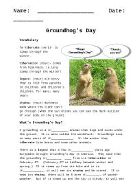 5 FREE Groundhog Day Worksheets