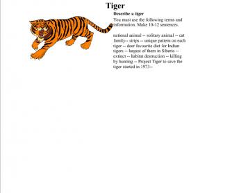 Tiger Creative Writing Worksheet