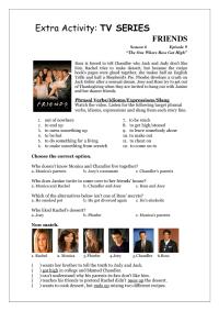 TV Series Worksheet: Friends (S06E09)