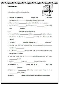 Comparative Adjectives Worksheets Free Worksheets Library ...