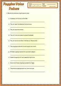 Passive Voice: Future Worksheet
