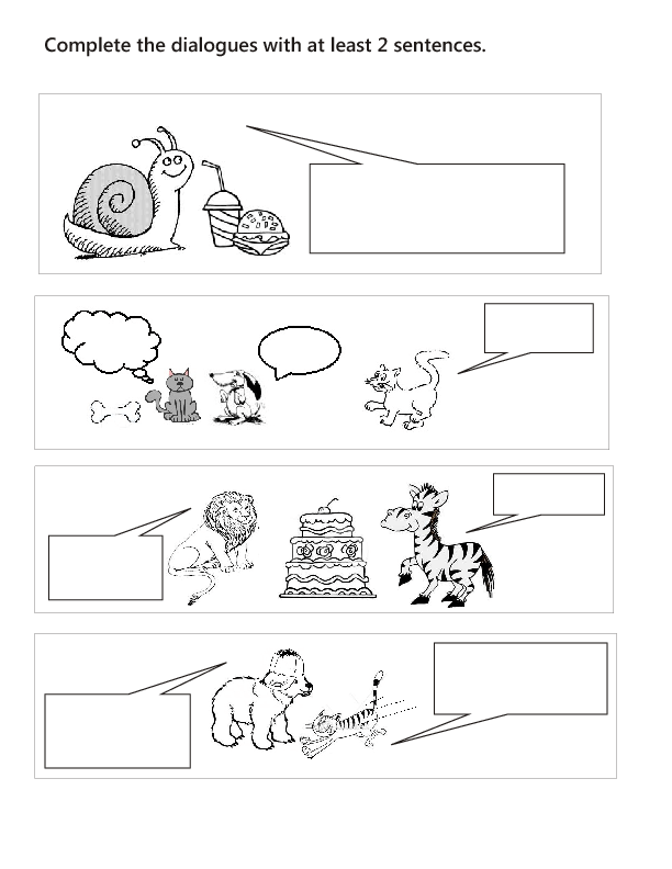 Create Dialogue Comic Strip