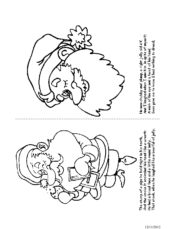 'Twas the Night before Christmas Coloring Book Pages 11-12