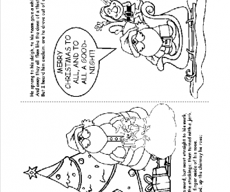 'Twas the Night before Christmas Coloring Book Pages 13-14