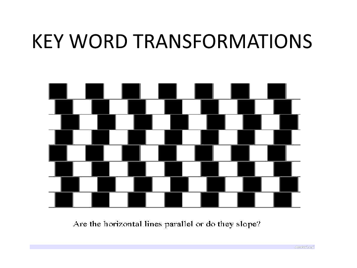 Working with Key Word Transformation Exercises