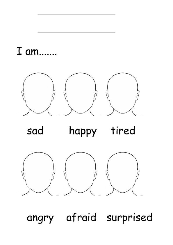 Feelings Faces Worksheet Free Worksheets Library