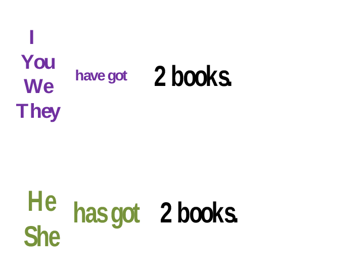 Grammar for Have Got and Has Got