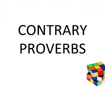 Contrary Proverbs