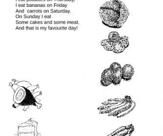 A Diet: Days of the Week Poem
