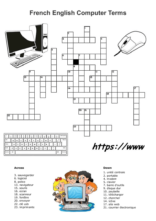 French English Computer Terms Crossword 2