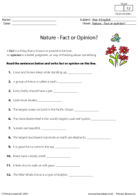 Nature - Fact or Opinion?