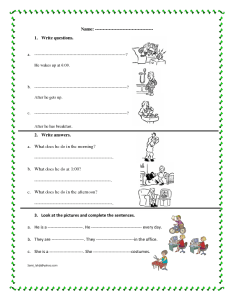 Simple present worksheet also free jobs and professions worksheets rh busyteacher