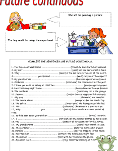 also free future continuous worksheets rh busyteacher