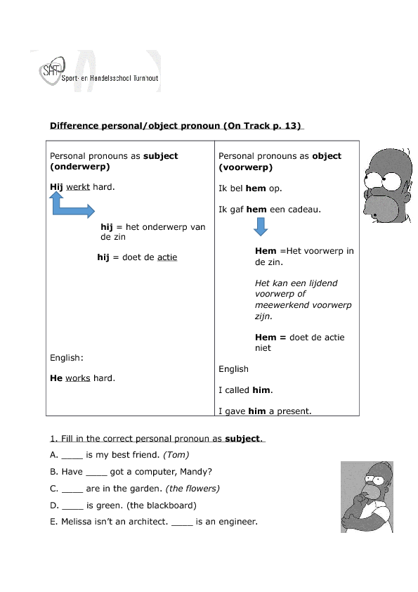 387 Free Pronoun Worksheets