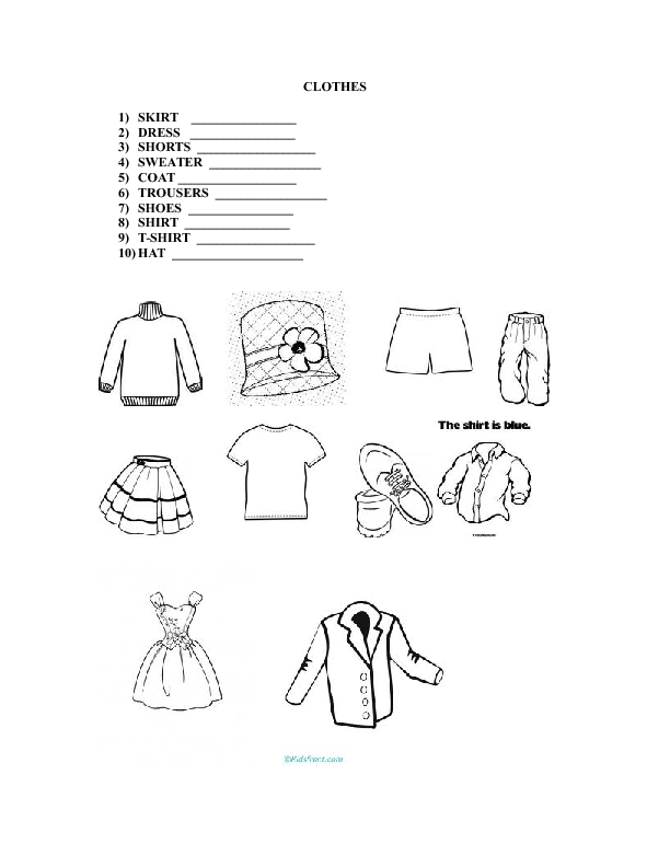 Clothes Worksheet Busy Teacher Breadandhearth