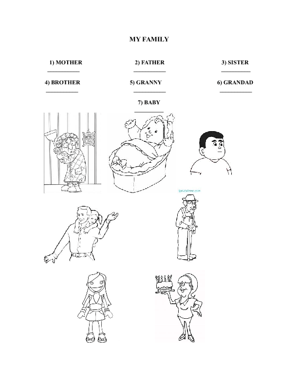 346 FREE Family/Friends Worksheets
