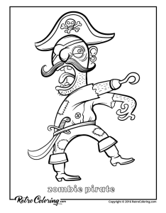 Zombie pirate also free coloring pages for kids rh busyteacher