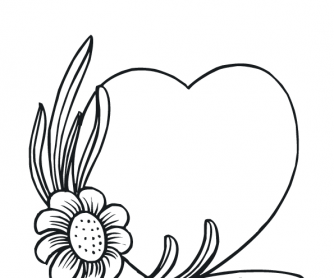 Valentine's Day Worksheet: Colouring Page 11