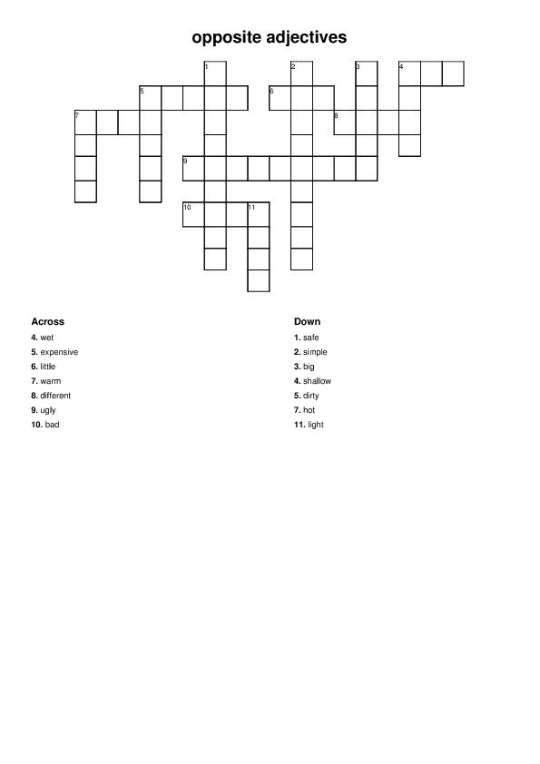 105 free opposites worksheets