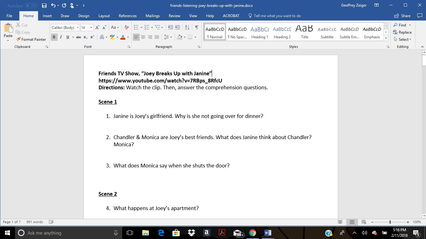 45 Free Slang Worksheets