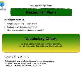 Making Fall Plans