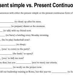 184 FREE Present Simple vs. Present Continuous Worksheets [ 884 x 1348 Pixel ]