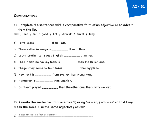 small resolution of 54 FREE Adjectives vs Adverbs Worksheets