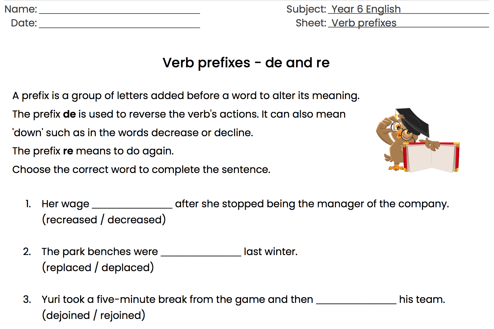 hight resolution of 96 FREE Prefixes/Suffixes Worksheets
